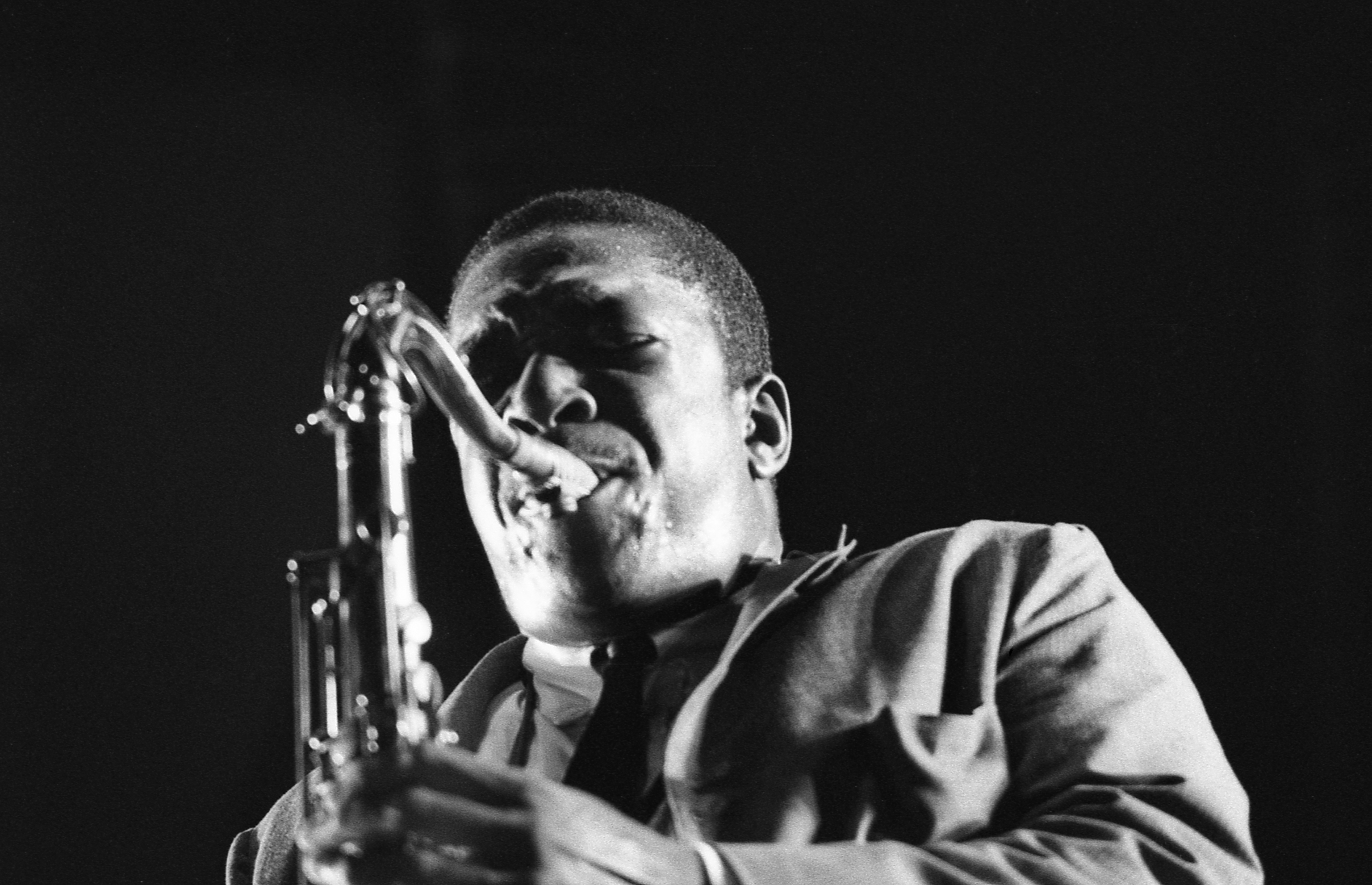 John Coltrane Photo By Don Schlitten, featured in CHASING TRANE The John Coltrane Documentary, by director John Scheinfeld